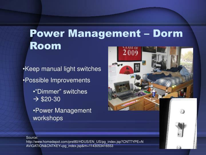 Power Management – Dorm Room