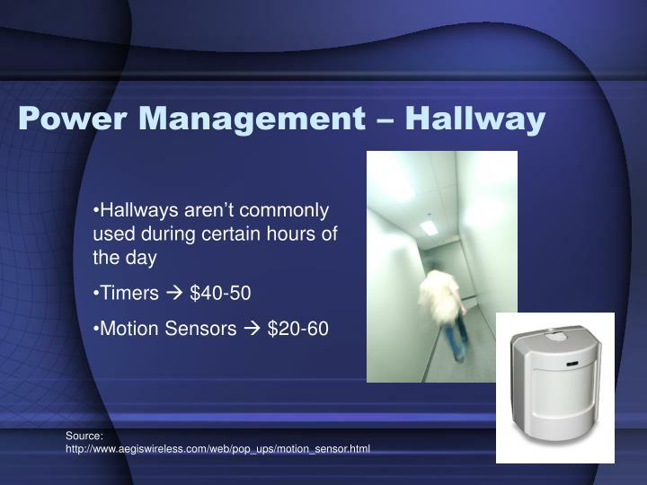 Power Management – Hallway