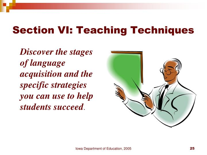 Section VI: Teaching Techniques