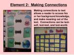 element 2 making connections
