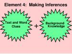 element 4 making inferences