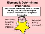 element 5 determining importance