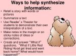 ways to help synthesize information