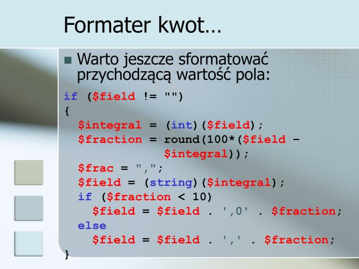 Formater kwot…