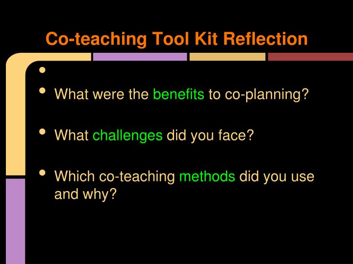 Co-teaching Tool Kit Reflection