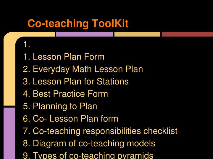 Co-teaching ToolKit