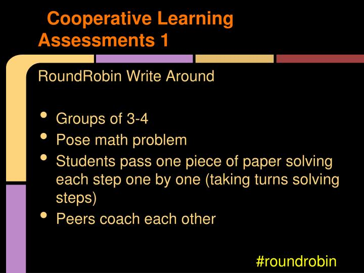 Cooperative Learning Assessments 1