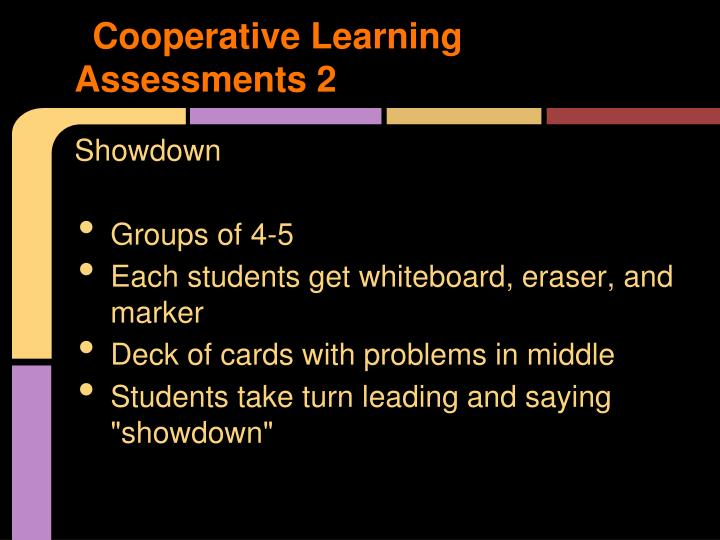Cooperative Learning Assessments 2