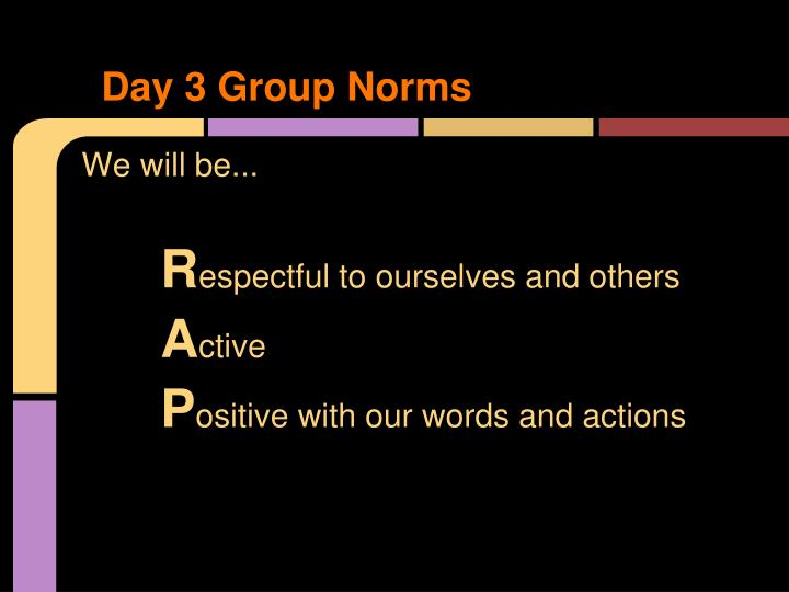 Day 3 Group Norms