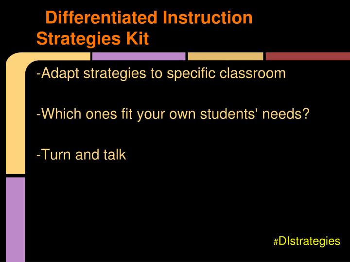 Differentiated Instruction Strategies Kit