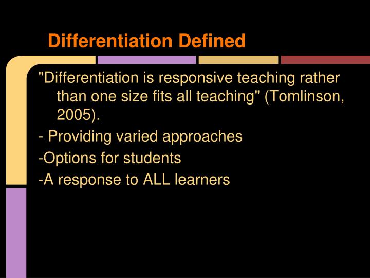 Differentiation Defined