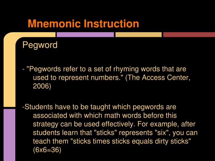 Mnemonic Instruction