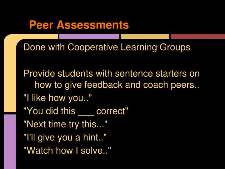 Peer Assessments
