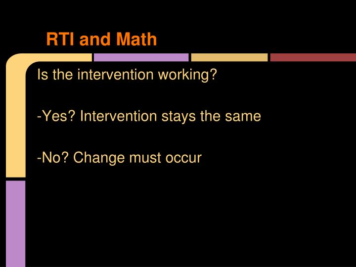 RTI and Math