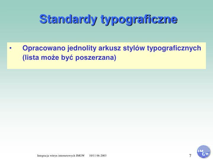 Standardy typograficzne