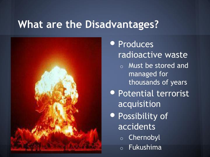 What are the Disadvantages?