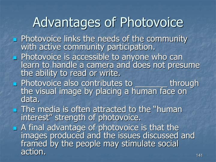 Advantages of Photovoice