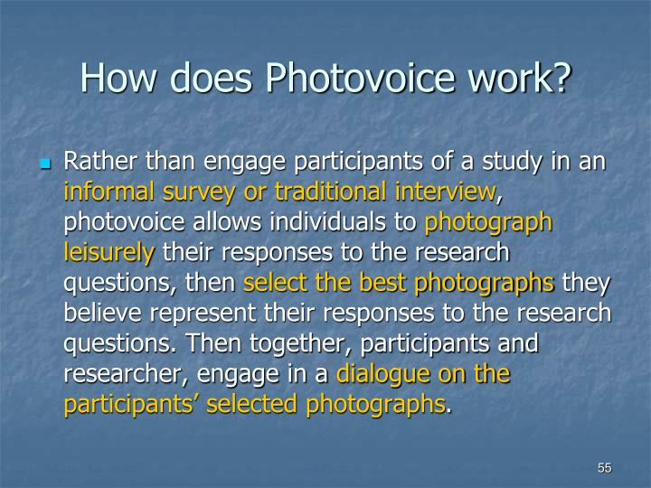 How does Photovoice work?