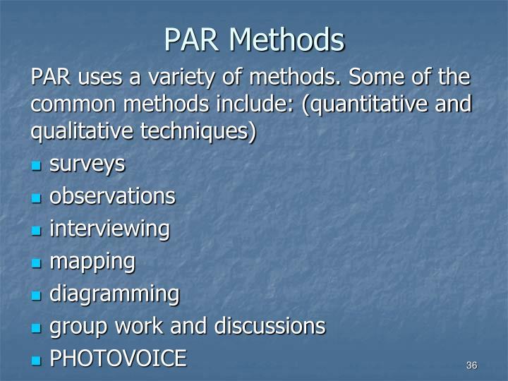 PAR Methods