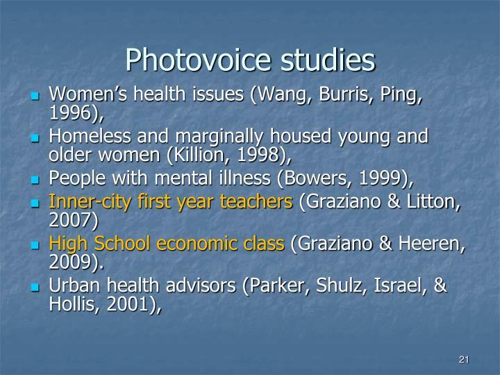 Photovoice studies