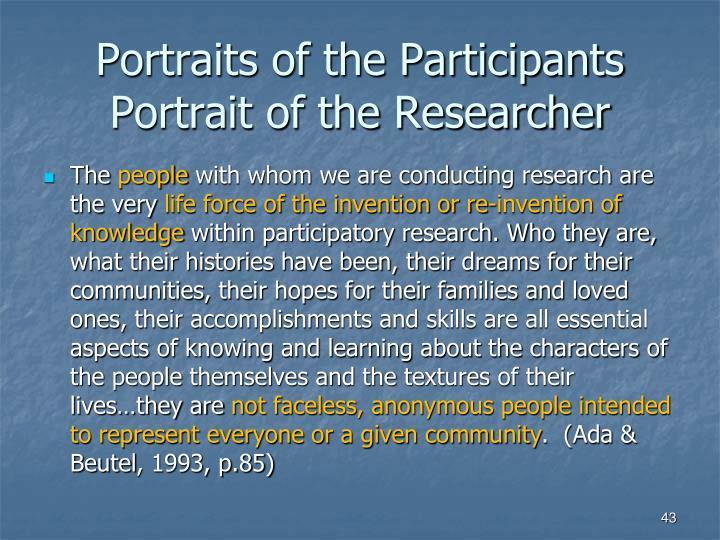 Portraits of the Participants