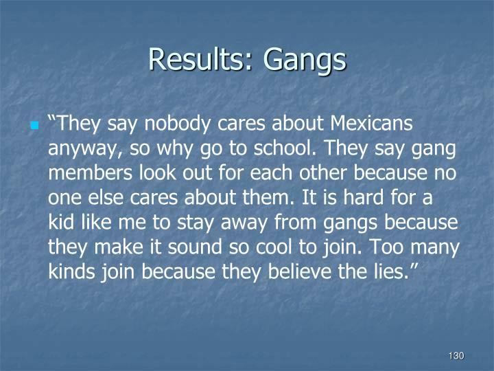 Results: Gangs