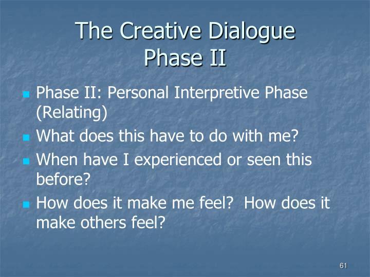 The Creative Dialogue