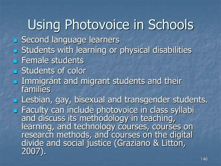 Using Photovoice in Schools