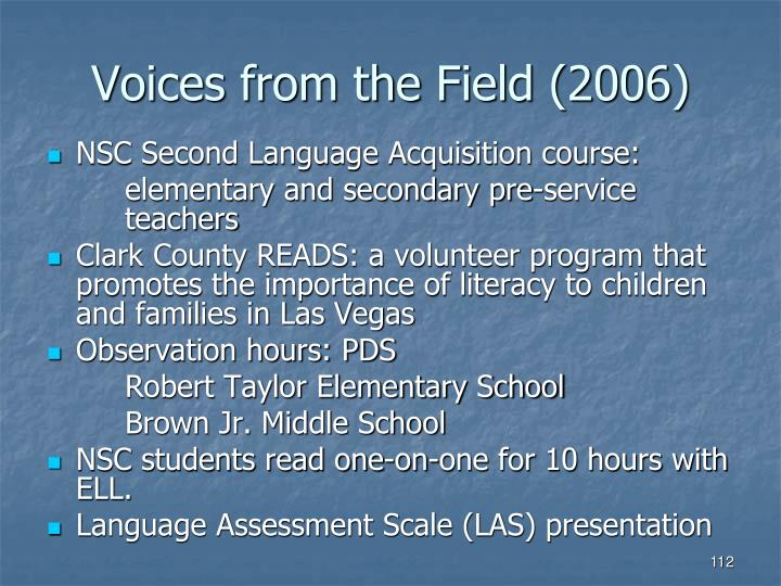 Voices from the Field (2006)