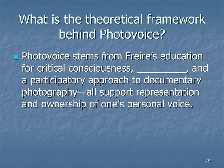 What is the theoretical framework behind Photovoice?