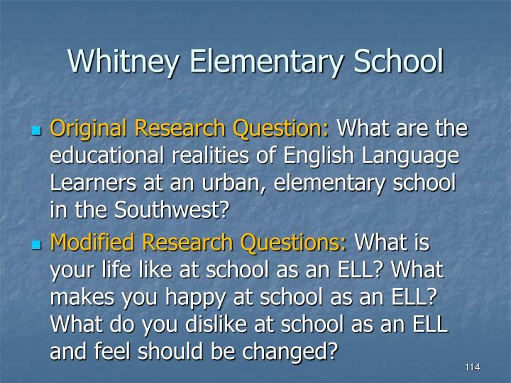 Whitney Elementary School