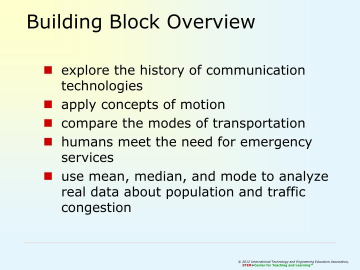 Building Block Overview