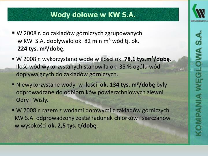 Wody dołowe w KW S.A.