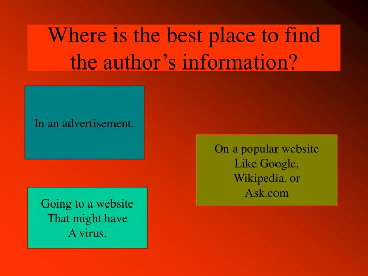 Where is the best place to find the author's information?