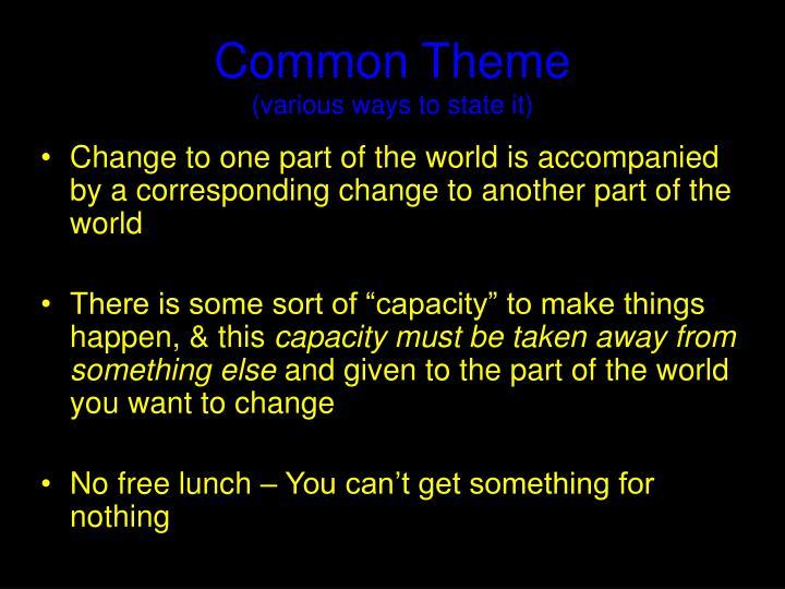 Common Theme