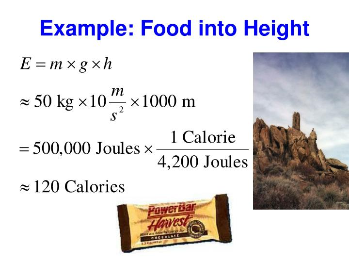 Example: Food into Height