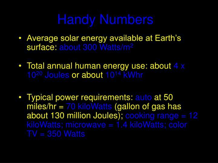 Handy Numbers