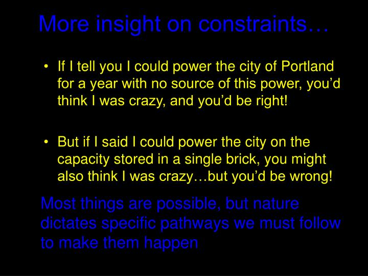 More insight on constraints…