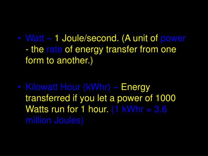 Watt –