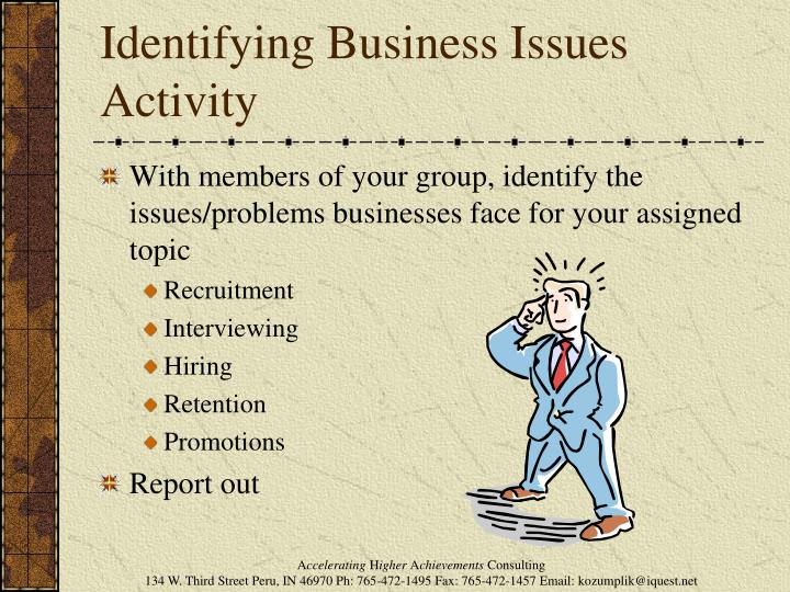 Identifying Business Issues Activity