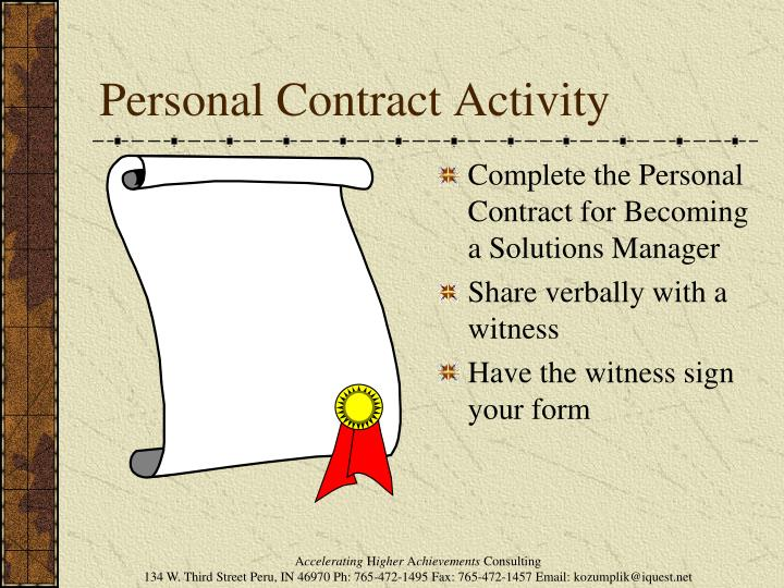 Personal Contract Activity