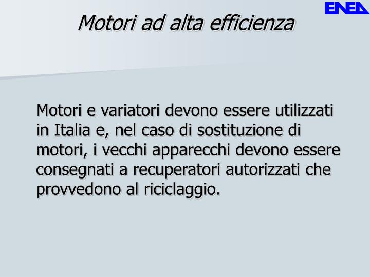 Motori ad alta efficienza