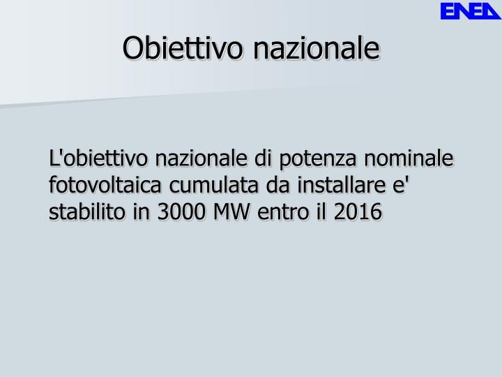Obiettivo nazionale