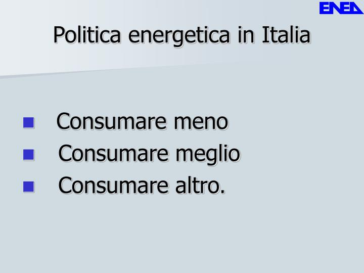 Politica energetica in Italia