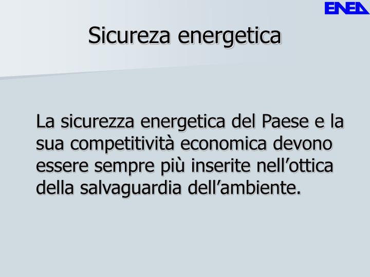 Sicureza energetica