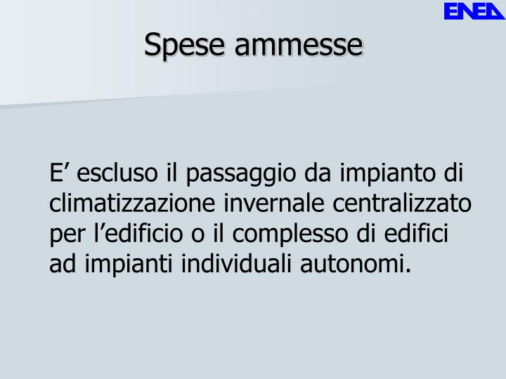 Spese ammesse
