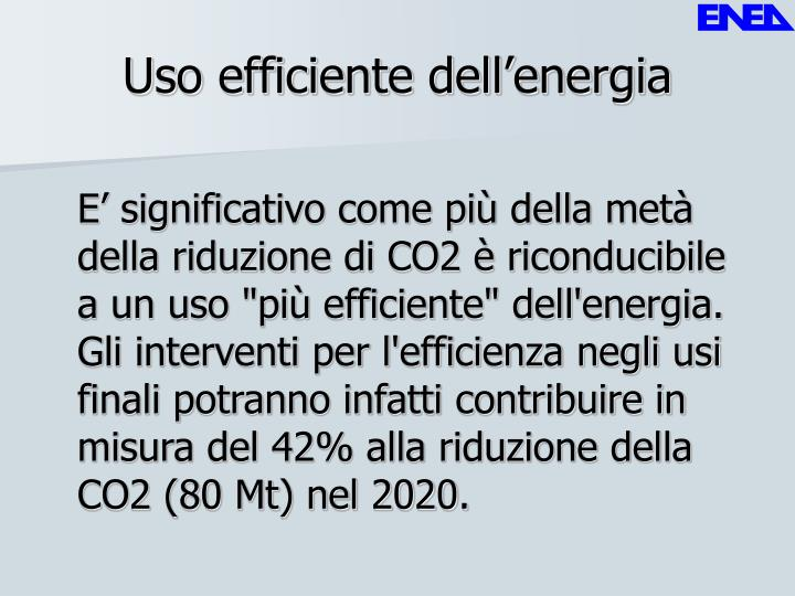 Uso efficiente dell'energia