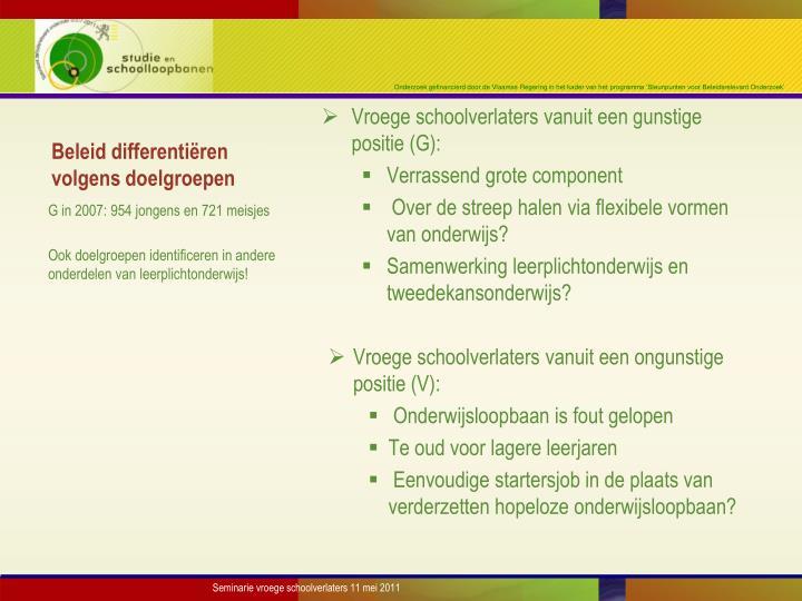 Beleid differentiëren volgens doelgroepen