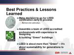 best practices lessons learned