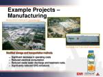 example projects manufacturing